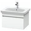 Duravit DuraStyle 650mm 1-Drawer Wall Mounted Vanity Unit - White Matt profile small image view 1