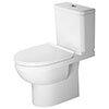 Duravit DuraStyle Basic Rimless Close Coupled Toilet (6/3 L Flush) + Seat profile small image view 1