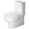Duravit DuraStyle Basic BTW Rimless Close Coupled Toilet (6/3 L Flush) + Seat profile small image view 1