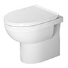 Duravit DuraStyle Basic Rimless Back to Wall Toilet Pan + Seat profile small image view 1