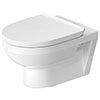 Duravit DuraStyle Basic Rimless HygieneGlaze Wall Hung Toilet + Seat profile small image view 1