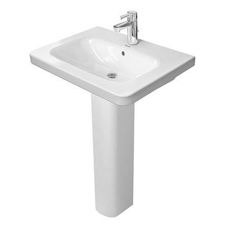 Duravit DuraStyle 650mm Washbasin + Full Pedestal
