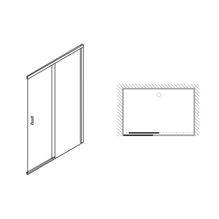 Simpsons - Design Soft Close Slider Shower Door - 5 Size Options Feature Large Image