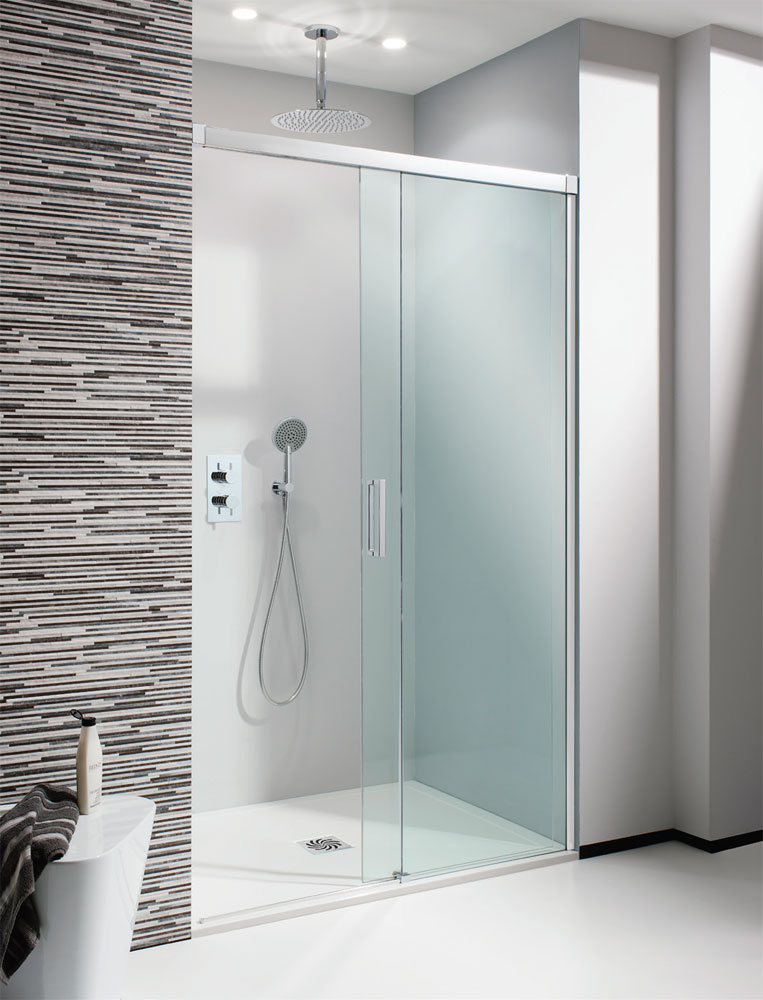Simpsons - Design Soft Close Slider Shower Door - 5 Size Options profile large image view 1