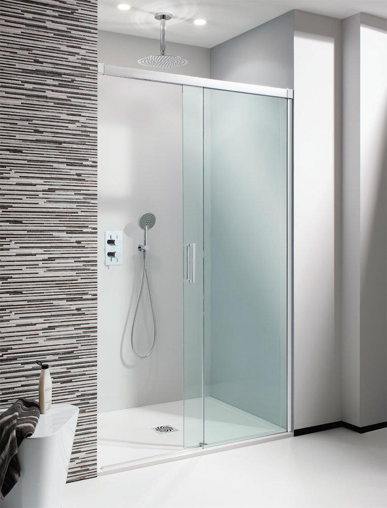 Simpsons - Design Soft Close Slider Shower Door - 5 Size Options Large Image