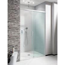 Simpsons - Design Soft Close Slider Shower Door - 5 Size Options Medium Image
