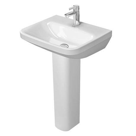 Duravit DuraStyle 550mm 1TH Washbasin Med + Full Pedestal