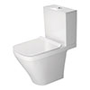 Duravit DuraStyle HygieneGlaze Open Back Close Coupled Toilet + Seat profile small image view 1