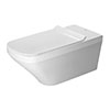Duravit DuraStyle Rimless Durafix 700mm Wall Hung Toilet + Seat profile small image view 1