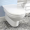 Silverdale Damea Wall Mounted Toilet inc Soft Close Seat profile small image view 1