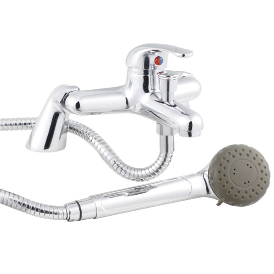D-Type Single Lever Bath Shower Mixer - Chrome - DTY304 Large Image