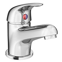 Modern Single Lever Basin Tap with Waste - Chrome - DTY305 Medium Image