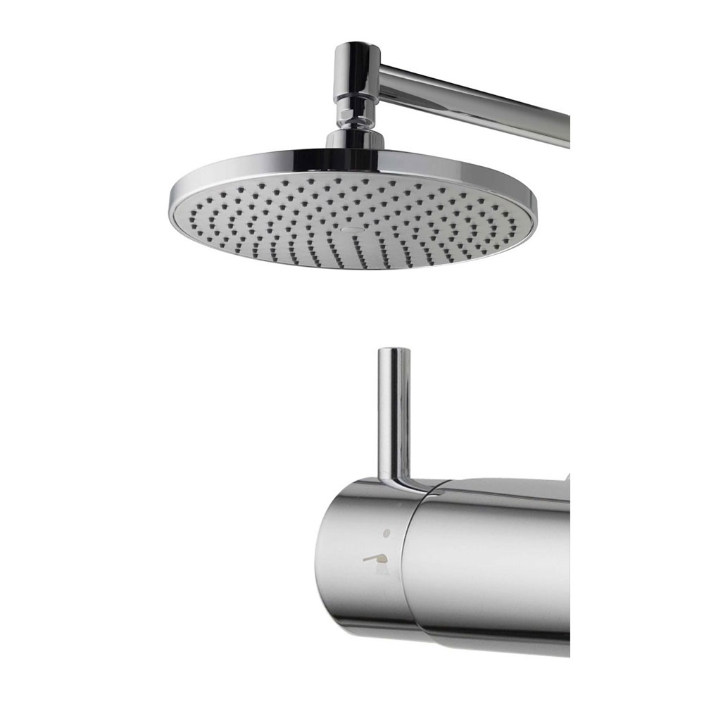 Aqualisa - Dual Exposed Bar Valve with Wall Mounted Fixed & Adjustable Head - DUAL001 profile large image view 2