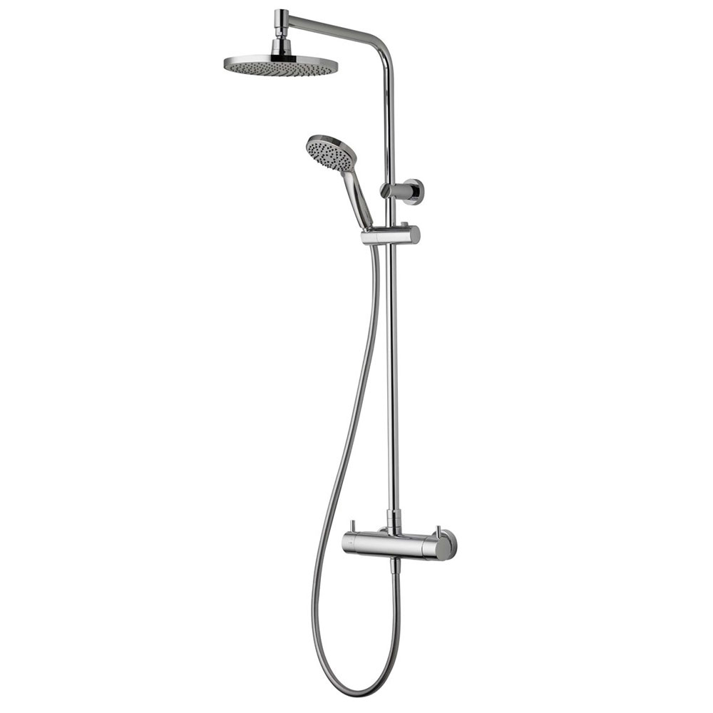 Aqualisa - Dual Exposed Bar Valve with Wall Mounted Fixed & Adjustable Head - DUAL001 Large Image