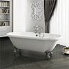 Duke 1695 Double Ended Roll Top Bath + Chrome Leg Set profile small image view 1