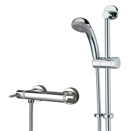Bristan - Design Lever Bar Shower w/ Adjustable Riser & Fast Fit Connections