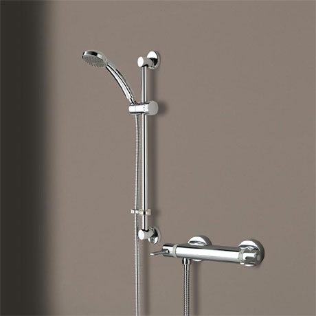 Bristan Design Utility Lever Bar Mixer with Adjustable Riser Kit & Fast Fit Wall Fixings