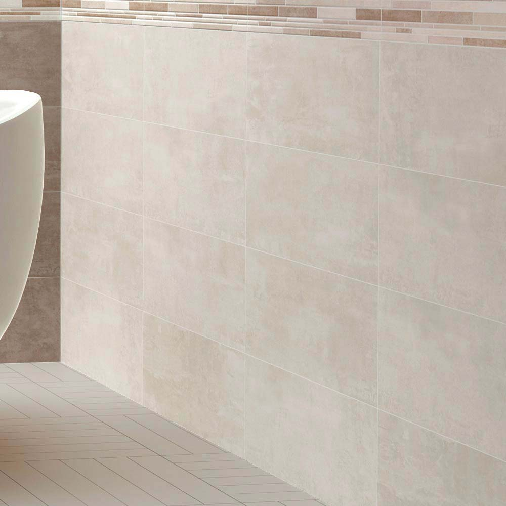 Duna Ivory Matt Wall Tile - 250 x 700mm Large Image
