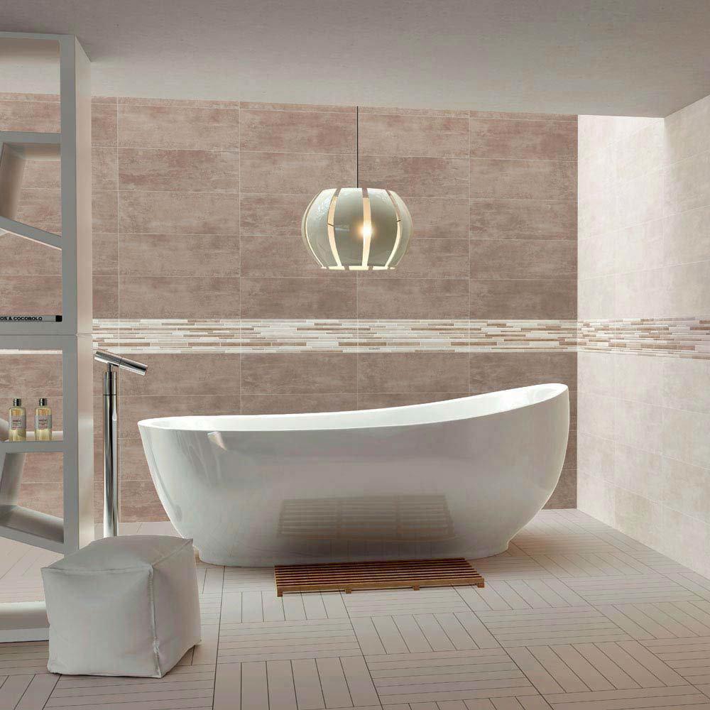 Duna Taupe Matt Wall Tile - 250 x 700mm  Profile Large Image