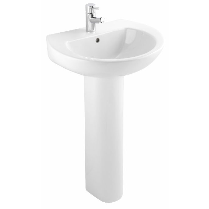 Bristan - Dune 55cm 1 Tap Hole Basin and Pedestal profile large image view 1