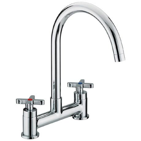 Bristan - Design Utility Crosshead Deck Kitchen Sink Mixer - DUX-DSM-C
