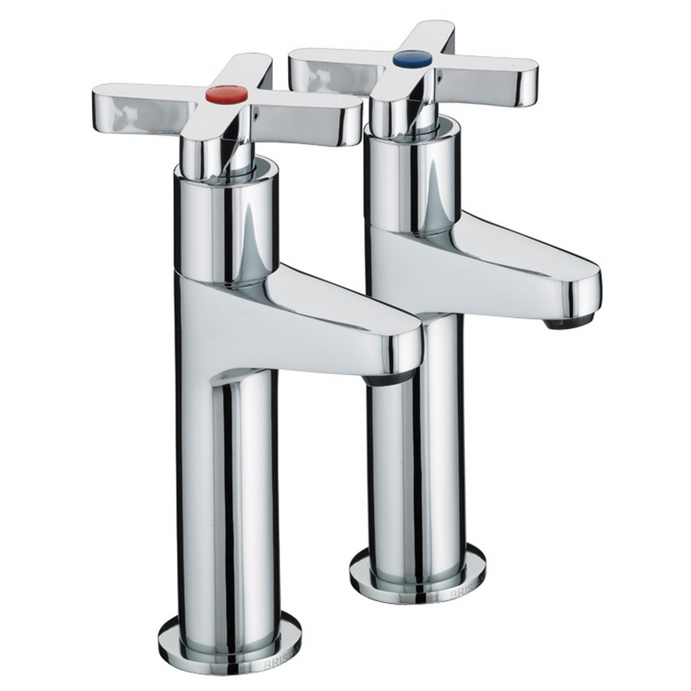 Bristan - Design Utility Crosshead High Neck Kitchen Taps - DUX-HNK-C Large Image