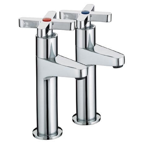 Bristan - Design Utility Crosshead High Neck Kitchen Taps - DUX-HNK-C