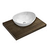 600 x 450mm Dark Wood Shelf with Casca Basin profile small image view 1