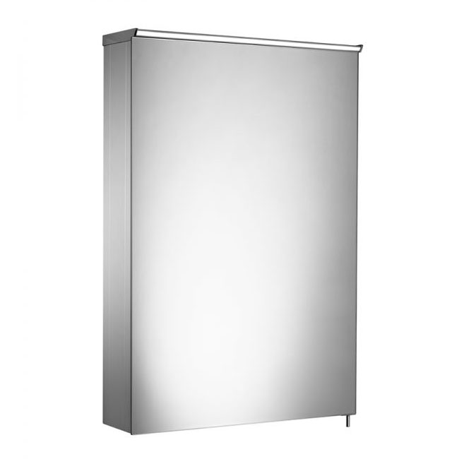 Tavistock Dynamic Single Door Mirror Cabinet with LED Light profile large image view 1