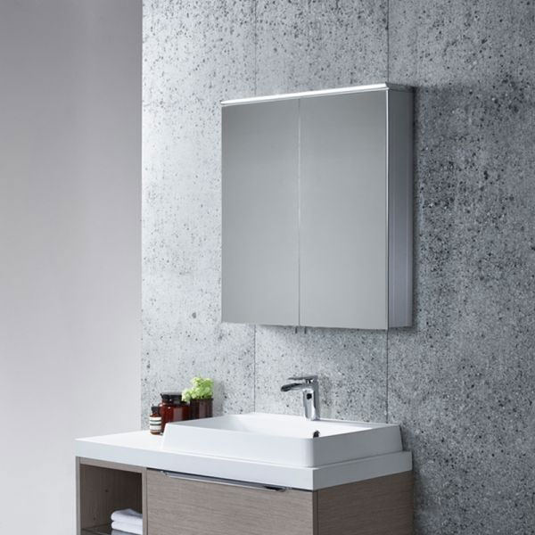Tavistock Dynamic Double Door Mirror Cabinet with LED Light Feature Large Image