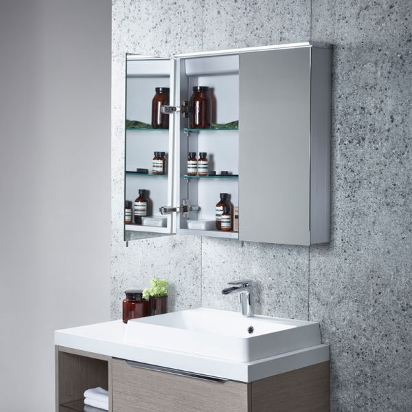 Tavistock Dynamic Double Door Mirror Cabinet with LED Light Standard Large Image