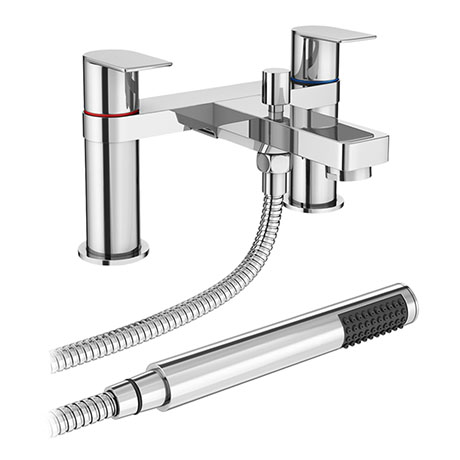 Dazzler Bath Shower Mixer with Shower Kit - Chrome