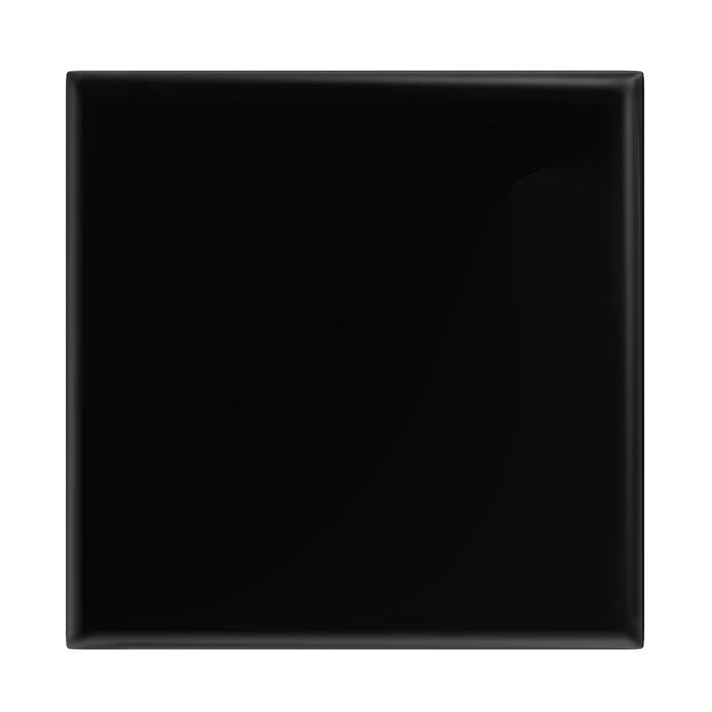 Danbury Glazed Black Field Tiles - 15 x 15cm Large Image