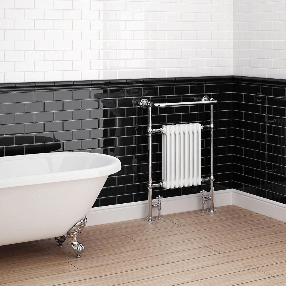 Danbury Glazed Black Field Tiles - 7.5 x 15cm Profile Large Image
