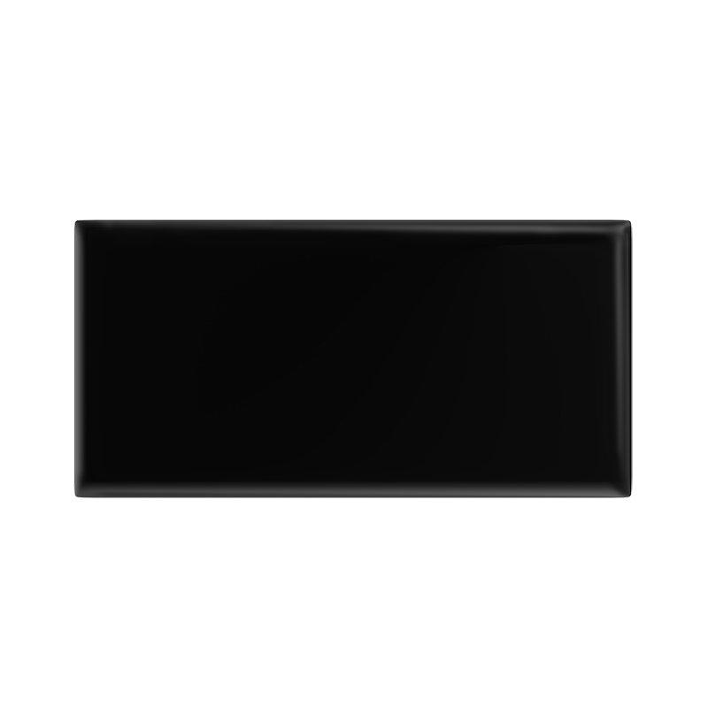 Danbury Glazed Black Field Tiles - 7.5 x 15cm Large Image