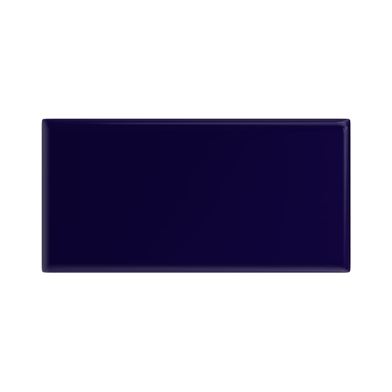 Danbury Glazed Cobalt Blue Field Tiles - 7.5 x 15cm Large Image