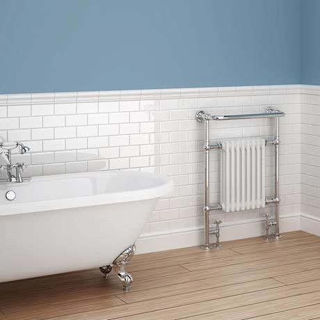 Danbury Glazed White Bevel Border Wall Tile 150x50mm Online Now