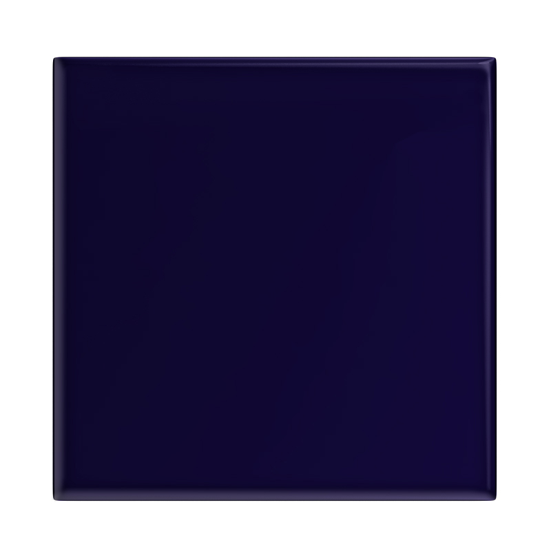 Danbury Glazed Cobalt Blue Field Tiles - 15 x 15cm Large Image