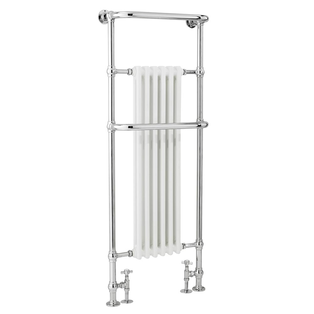 Dartford Traditional Floor Mounted Heated Towel Rail Radiator Large Image