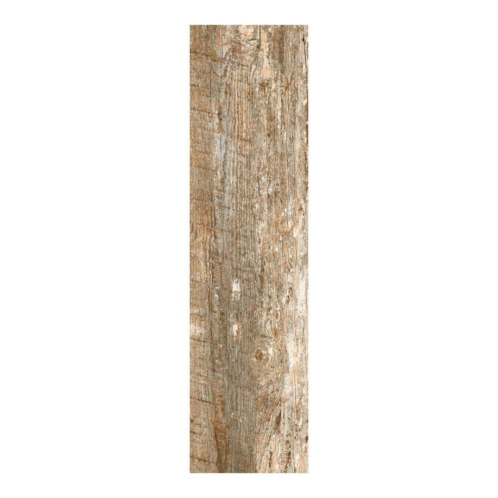 Darwin Dark Wood Effect Porcelain Floor Tile - 220 x 850mm  In Bathroom Large Image