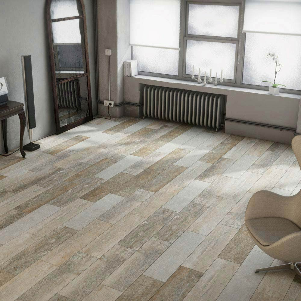 Wood Effect Porcelain Floor Tiles >> Darwin Light Wood Effect Porcelain Floor Tile 220 X 850mm Pack Of 9