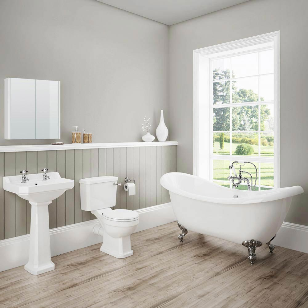 Darwin traditional bathroom suite now at victorian for Pictures of traditional bathrooms