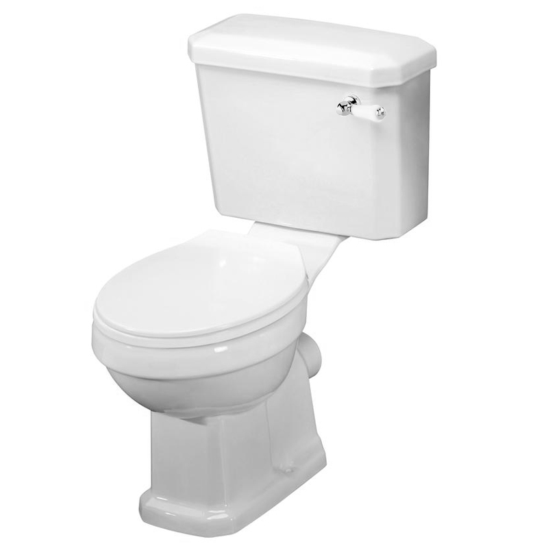 Darwin Traditional Close Coupled Toilet with Soft Close Seat Large Image