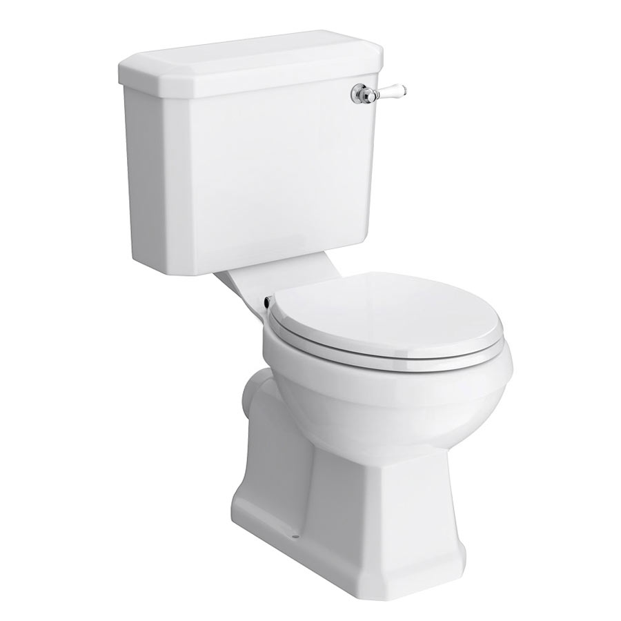 Darwin Traditional Close Coupled Toilet + Soft Close Seat profile large image view 1