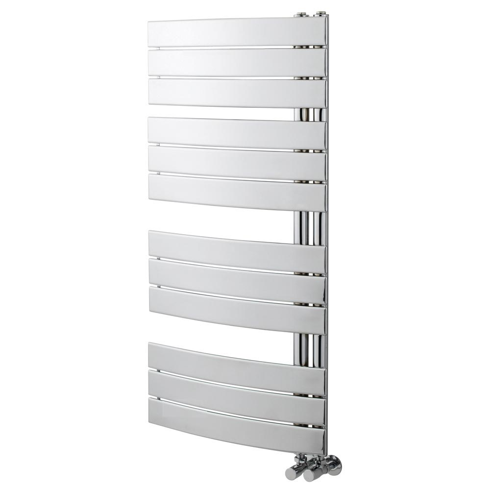 Delta Chrome Designer Heated Towel Rail 1080 x 550mm profile large image view 1