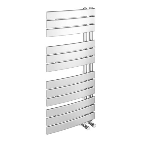 Delta Chrome Designer Heated Towel Rail 1080 x 550mm