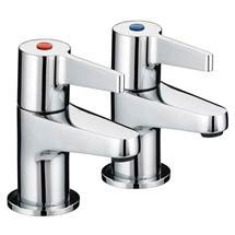 Bristan - Design Utility Lever 3/4 Bath Taps - Chrome - DUL-3/4-C Medium Image