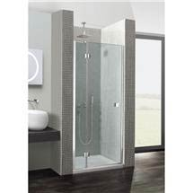 Simpsons - Design Hinged Shower Door with Inline Panel - Various Size Options Medium Image