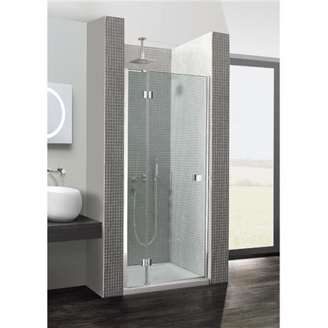 Simpsons - Design Hinged Shower Door with Inline Panel - Various Size Options