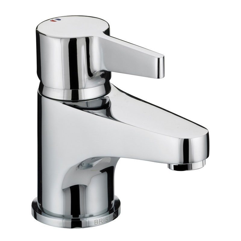Bristan - Design Utility Lever Basin Mixer w/ Clicker Waste - Chrome - DUL-BAS-C Large Image